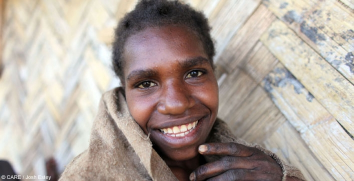 A young woman in the PNG Highlands (photographed in 2011)