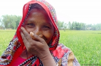 Smiling woman, Bangladesh