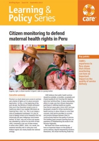 Citizen monitoring to defend maternal health rights in Peru