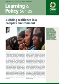 Building resilience in a complex environment