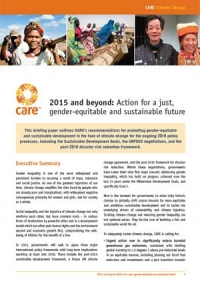 2015 and beyond: Action for a just, gender-equitable and sustainable future