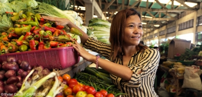 Maria Daffodil Arrante expanded her market stall business in the Philippines with a loan from Lendwithcare.org