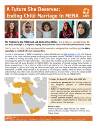 A future she deserves: Ending child marriage in MENA