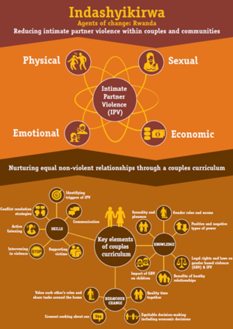 Indashyikirwa - Reducing intimate partner violence infographic