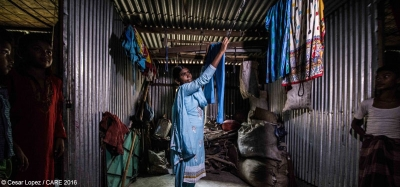 Sharmin Akhter, a garment worker in Gazipur, Bangladesh