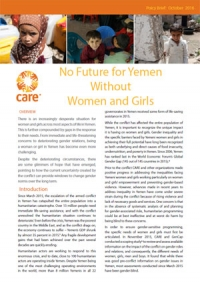 No future for Yemen without women and girls