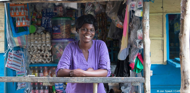 Eunice Quanioo, a savings group member in central Ghana