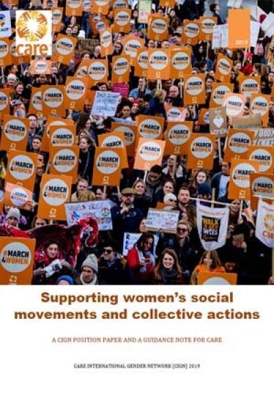 Supporting women's social movements and collective actions: CARE International Gender Network position paper and guidance note