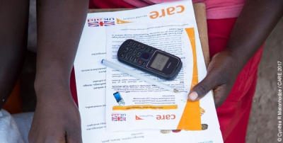 A participant in the cash transfer programme in Masvingo district, Zimbabwe