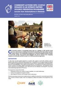 Community activism with couples engaged in an intimate partner violence prevention programme: Lessons from Indashyikirwa in Rwanda - Practice brief