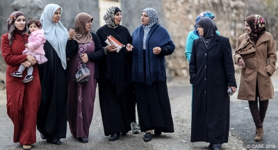 Two members of this Faquaa (North of West Bank) women's group, which led socio-economic improvements for their community, were elected as local council representatives