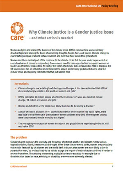 Why Climate Justice is a Gender Justice issue