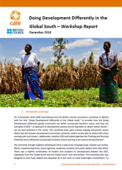 Doing Development Differently in the Global South – Workshop Report