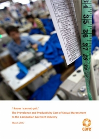 'I know I cannot quit': The prevalence and productivity cost of sexual harassment to the Cambodian garment industry