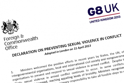 G8 Declaration on Preventing Sexual Violence in Conflict