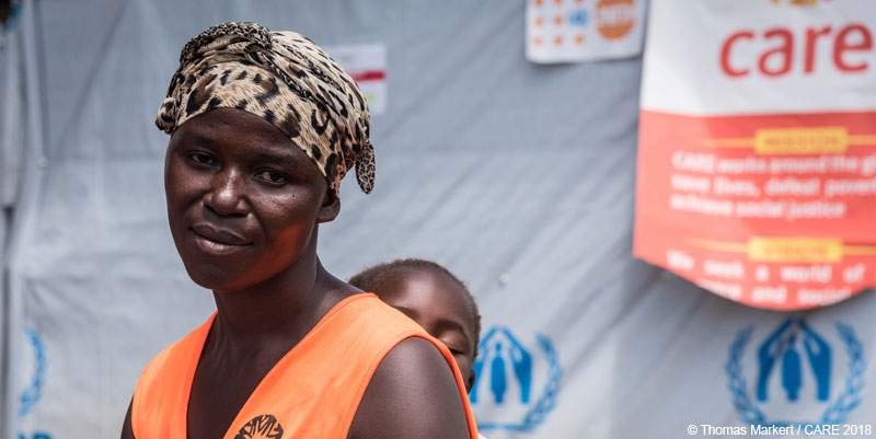 Jeanette Vumulia works as a volunteer on CARE's SRH programme in the DRC