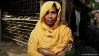 Hasina at refugee camp in Bangladesh where CARE has set up women friendly spaces.