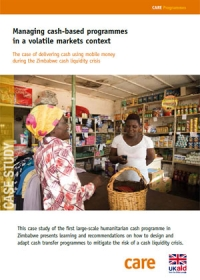 Managing cash-based programmes in a volatile markets context