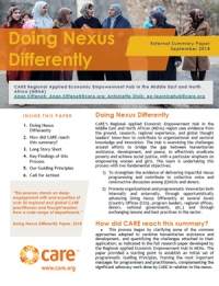 Doing Nexus Differently - External Summary Paper