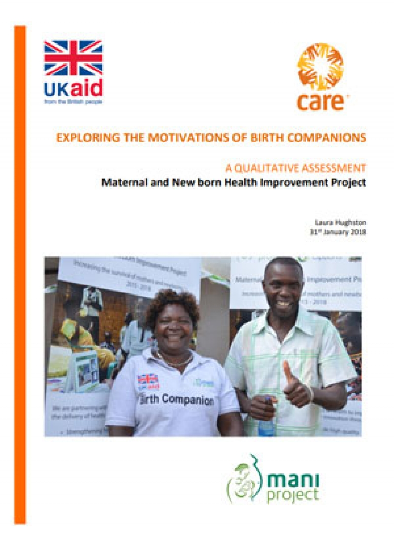 Exploring the motivations of birth companions: A qualitative assessment of the Maternal and New-born Health Improvement Project in Kenya