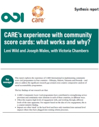 CARE's experience with Community Score Cards: What works and why? - synthesis report