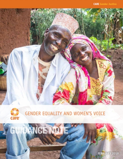Gender equality and women's voice - Guidance note