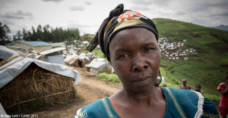 Vinancia Fikije, an internally displaced person at a camap in North Kivu Province, DRC