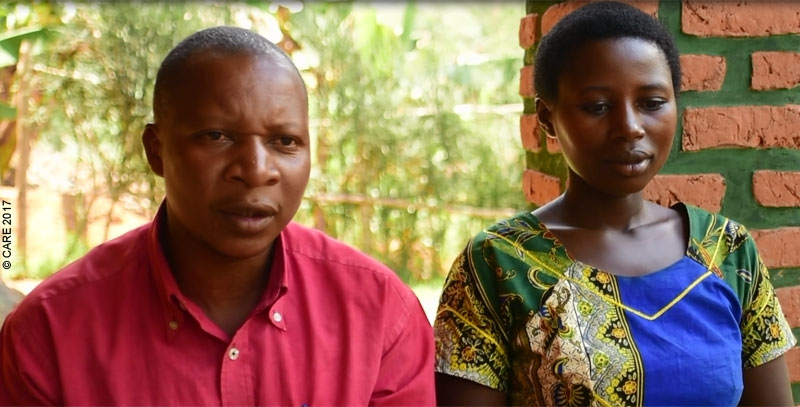 Jean Felix Havumiragira and Kristina Uwamahoro, who participated in the couples curriculum in Rwanda