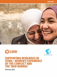 Supporting resilience in Syria – Women's experience of the conflict and the 'new normal'