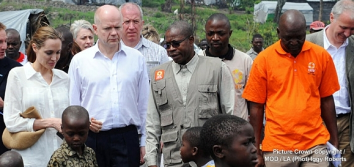 Angelia Jolie and William Hague visit a CARE project in DRC working with survivors of sexual violence. Picture Crown Copyright/MOD/LA(Photo) Iggy Roberts