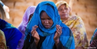 A woman praying in Sudan (photo courtesy of Islamic Relief Sudan