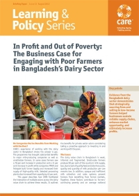 In Profit and Out of Poverty: The Business Case for Engaging with Poor Farmers in Bangladesh's Dairy Sector