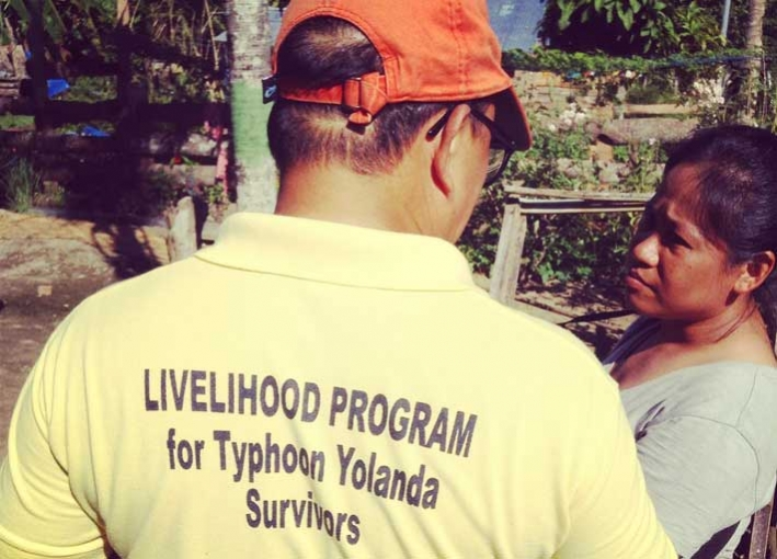 CARE's shelter team with local communities in rural Tacloban