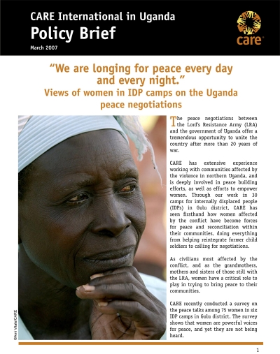 CARE International Uganda Policy Brief