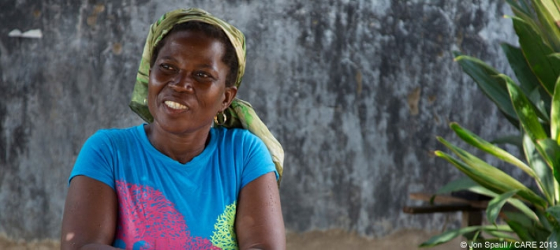 A member of a savings and loan group in Ashamoah village, Ghana