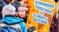 CARE supporters at a march at the COP23 meeting in Bonn