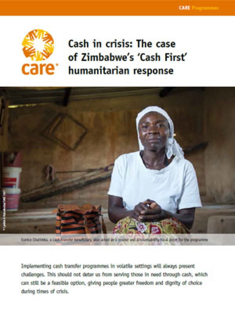 Cash in crisis: The case of Zimbabwe's 'Cash First' humanitarian response