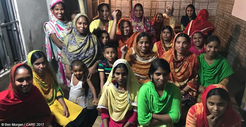 An EKATA group at a garment factory in Bangladesh
