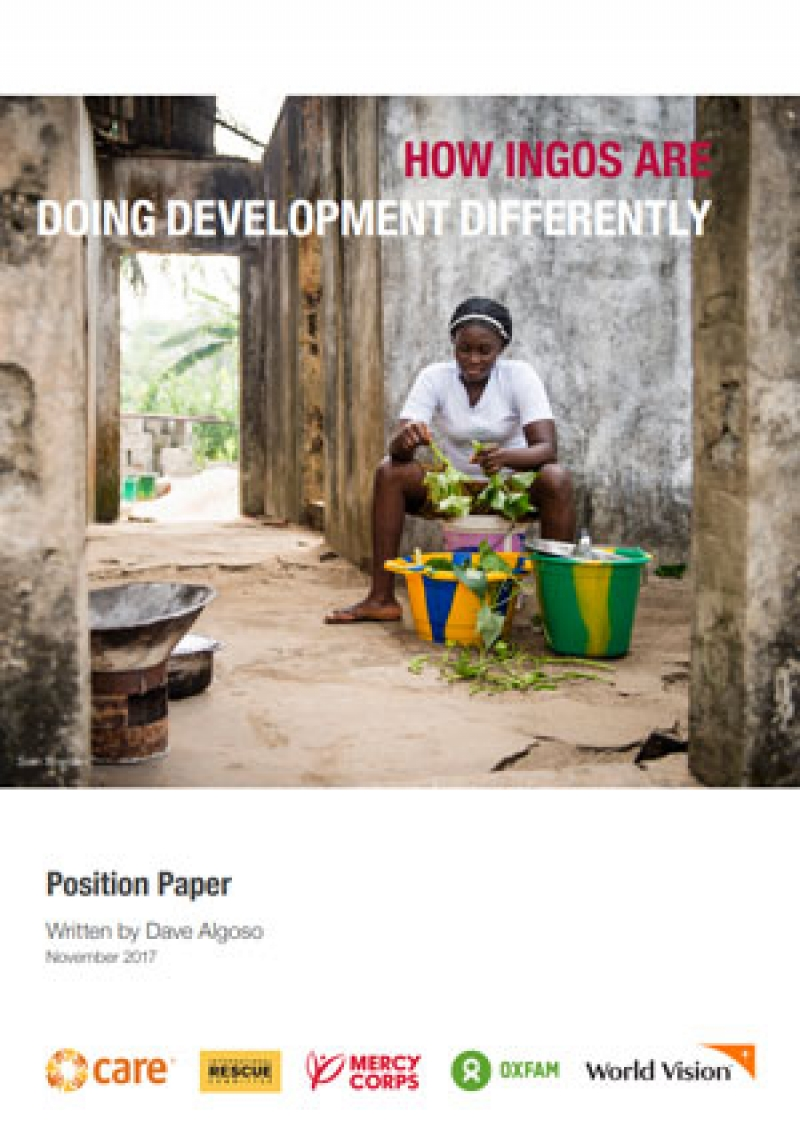 How International Non-Government Organisations are Doing Development Differently