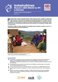 Indashyikirwa Women's Safe spaces for IPV in Rwanda - Practice brief
