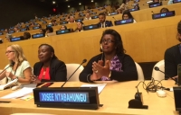 Josee Ntabahungu, Head of Gender and Women's Economic Empowerment at CARE Burundi, at the United Nations