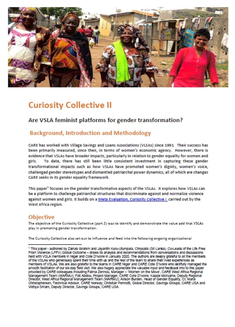 Are VSLA feminist platforms for gender transformation?
