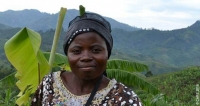 Rachele Nsii, a displaced woman in the Democratic Republic of Congo