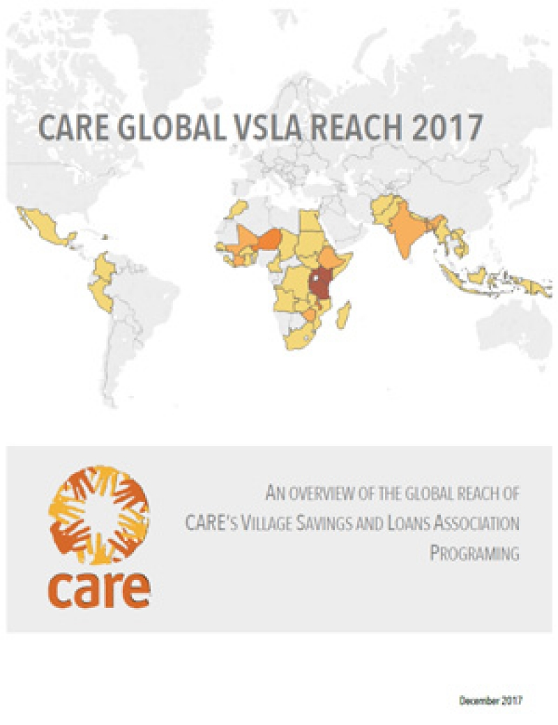 CARE global VSLA reach 2017: An overview of the global reach of CARE's Village Savings and Loan Association programming