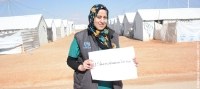 """We as women will be able to break stereotypes around women's roles and responsibilities"" – Asma Abdullah, a humanitarian worker in Azraq camp, Jordan"
