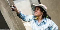 A CARE project in Cambodia advocated for equal labour rights for women construction workers